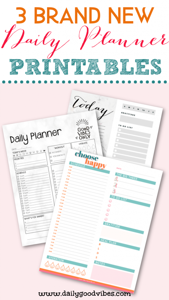 printable daily planners